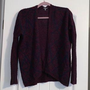 Navy Blue/Maroon Sweater Cardigan